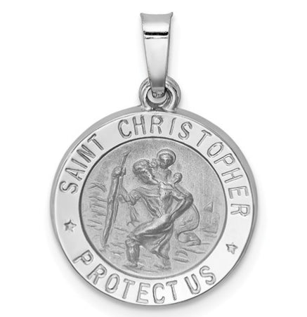 14K White Gold St. Christopher Medal KC1300