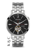 f197d343a Brand New Bulova Men's Classic Stainless Steel Automatic Skeleton Watch  Model 96A199