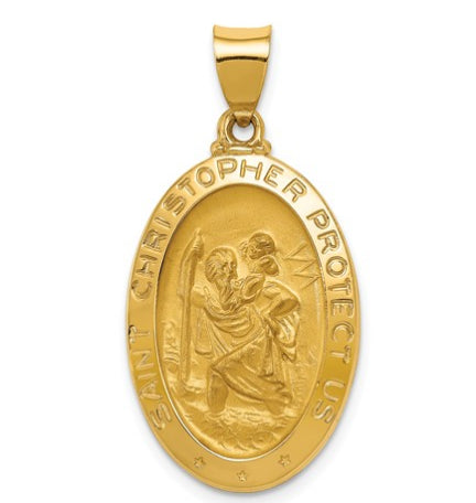 14K Yellow Gold St. Christopher Medal KC1308