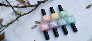 Beautiful range of pastel nail polish for stamping nail art