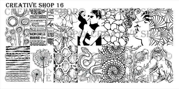 Creative Shop Stamping plate 16 - 17