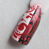 """Drop Red Gorgeous"" stamping polish best red stamping polish"