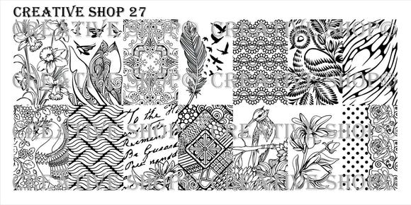 Creative Shop stamping plate 27