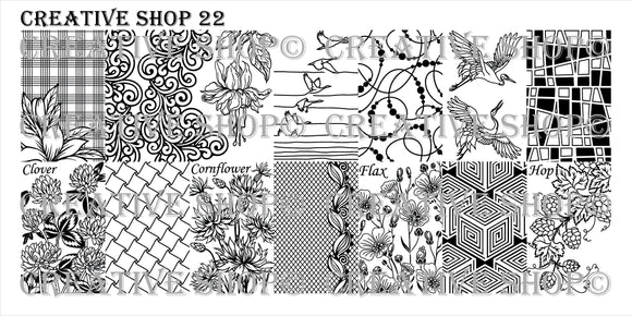 Creative Shop Stamping plate 22