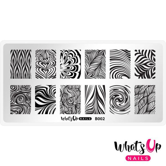 Whats Up Nails - Water Marble to Perfection stamping plate