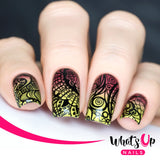 Whats Up Nails - A001 Majestic Flowers stamping plate