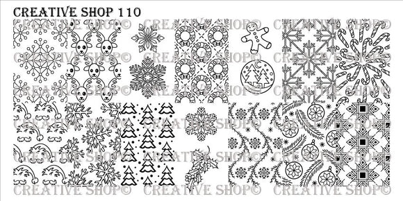Creative Shop stamping plate 110