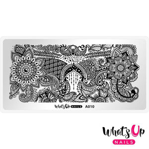 Whats Up Nails - Henna Entrancement stamping plate