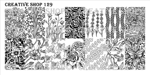 Creative Shop stamping plate 129