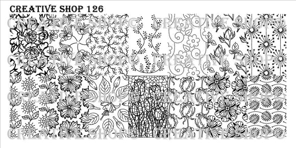 Creative Shop stamping plate 126