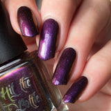 """Purple Plumage"" multichrome nail polish from Hit the Bottle"