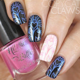 """I'm Pinking of Blue"" stamping polish Copycat Claws"