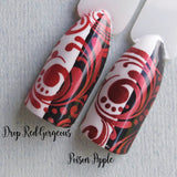"""Drop Red Gorgeous"" stamping polish"