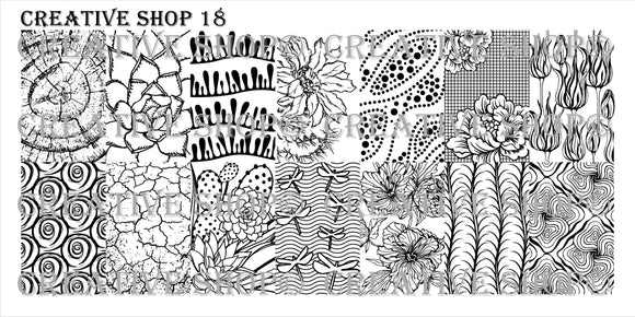 Creative Shop stamping plate 18