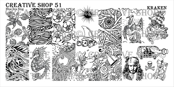 Creative Shop stamping plate 51