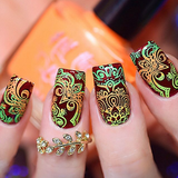 """Shazam Yellow"" stamping polish nail art swatch"