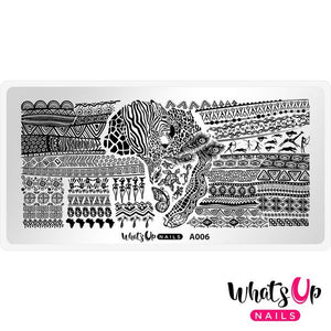 Whats Up Nails - A Walk on the Wild Side stamping plate