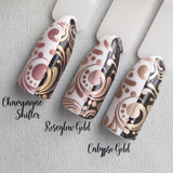"""Champagne Shifter"" stamping polish"