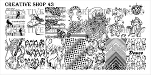 Creative Shop stamping plate 43