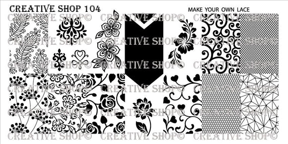 Creative Shop stamping plate 104