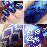 """Electric Indigo"" stamping polish - old formula- swatch"