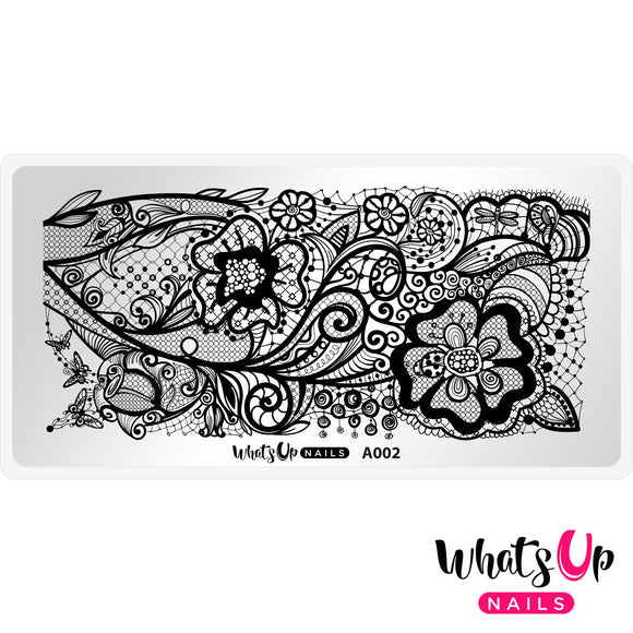 Whats Up Nails - A002 Classy and Sassy stamping plate.