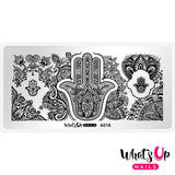 Whats Up Nails - Spirits of Hamsa stamping plate