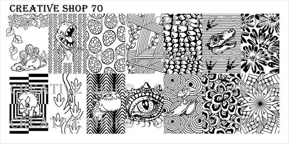 Creative Shop stamping plate 70
