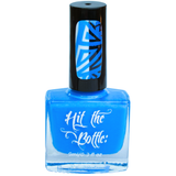Bright blue neon stamping nail polish.