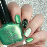 """Sweet child of Lime"" stamping polish"