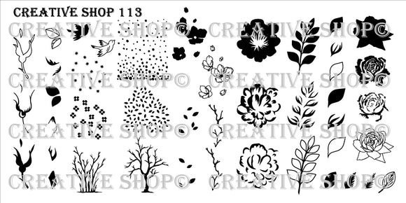 Creative Shop stamping plate 113