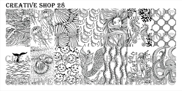 Creative Shop stamping plate 28