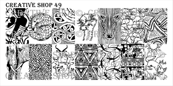 Creative Shop stamping plate 49