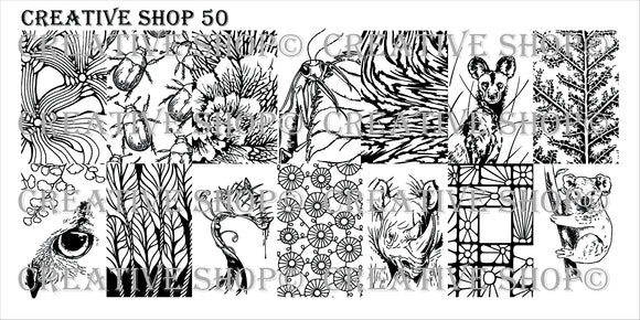 Creative Shop stamping plate 50