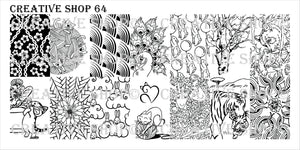 Creative Shop stamping plate 64