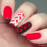 """A Vermillion to One"" stamping polish"