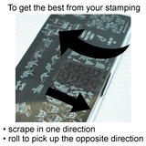 """Tricky Sticky"" large clear stamper"