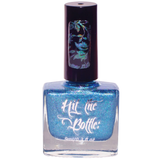 Hololulu Blue, is a blue holo stamping nail polish from Hit the Bottle.