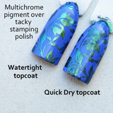 """Water Tight""  smear free topcoat"