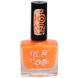 Bright neon orange nail polish for stamping nail art