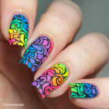 """Stuck in the 80's"" neon polish collection."