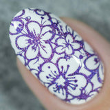 """Amethyst Sizzle"" stamping polish"