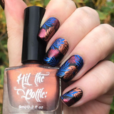 """A bolt from the Blue"" stamping polish"