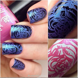 """I'm Pinking of Blue"" stamping polish Lady and the Stamp"