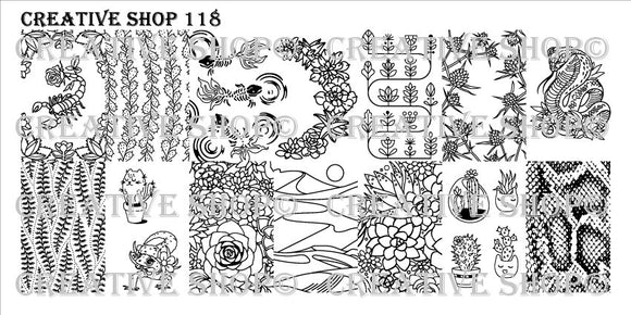 Creative Shop stamping plate 118