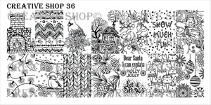 Creative Shop stamping plate 36