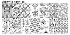 Creative Shop stamping plate 112