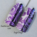 """Paint the town Violet"" stamping polish"