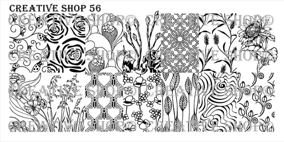 Creative Shop stamping plate 56