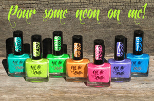 """Pour some Neon on me!"" neon stamping polish collection"